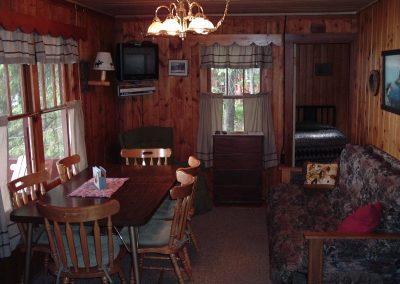 Snug Harbor dining-living room